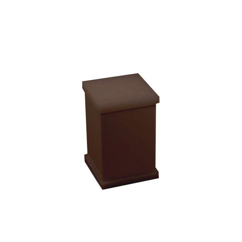 Potinho para Algodão/Cotonete Sem Strass Decor Chocolate
