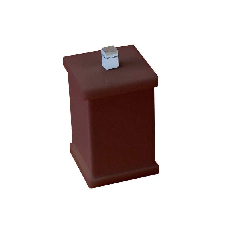 Potinho para Algodão/Cotonete Sem Strass Duo Decor Chocolate