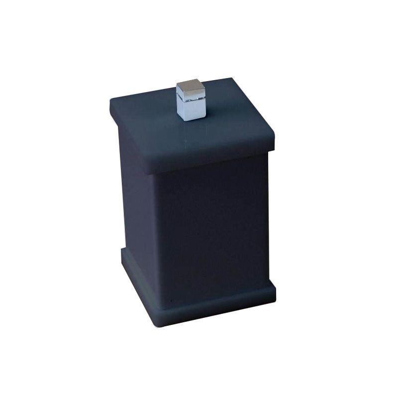 Potinho para Algodão/Cotonete Sem Strass Duo Decor Preto