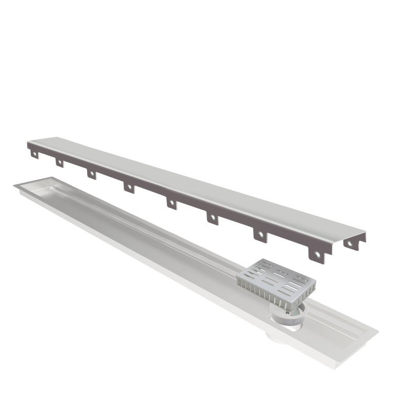 Ralo Linear Elleve Multimaster Tampa Inox 130cm Linear