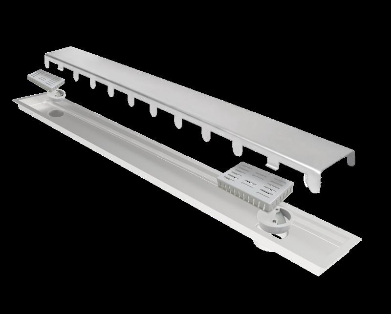 Ralo Linear Elleve Multimaster Tampa Inox 180cm 2 Saídas Linear