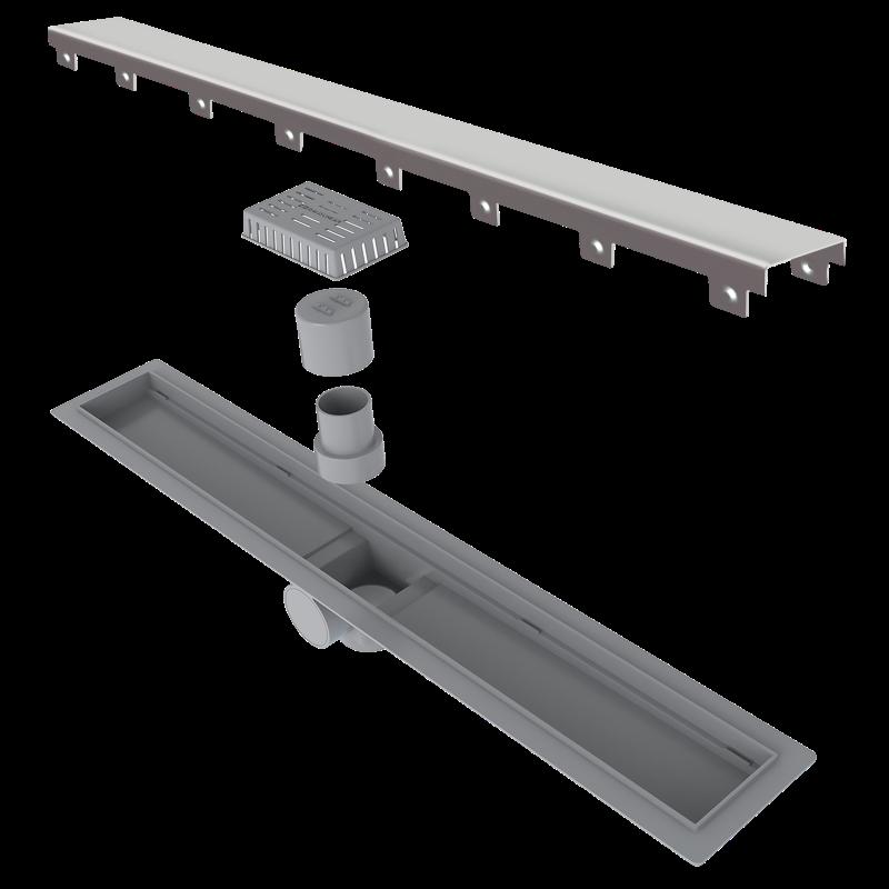 Ralo Linear Elleve Smart Sifonado Tampa Inox 60cm Linear