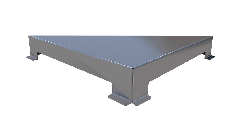 Ralo Linear Elleve Triangular Vertex Tampa Inox Escovada Linear
