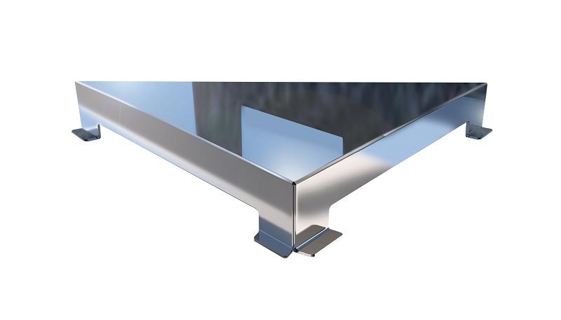 Ralo Linear Elleve Triangular Vertex Tampa Inox Polida Linear