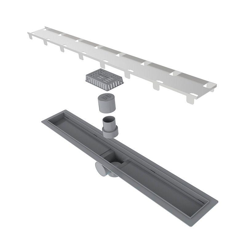 Ralo Linear Smart Sifonado com Tampa Oculta 60cm