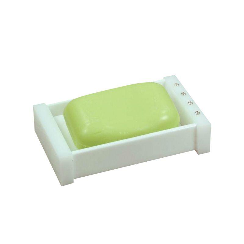 Saboneteira Caixinha Com Strass Cristal Decor Branco