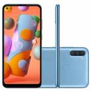 Celular Samsung Galaxy A11 Sm-A115M/Ds Oc/64Gb/3Gbram/13Mp+2Mp/6.4''/Azul
