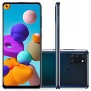 Celular Samsung Galaxy A21S Sm-A217M/Ds Oc/64Gb/4Gbram/48Mp+13Mp/6.5/Preto