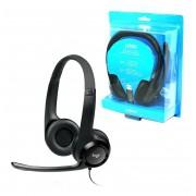 Fone De Ouvido - Headset Logitech Preto H390 - Usb