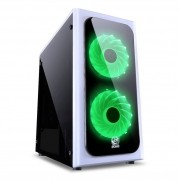 Gabinete Gamer Pcyes Mid Tower Venus Branco Led Rgb S Fonte