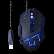 Mouse Gamer Warrior Multilaser 3200Dpi Preto Usb Mo261