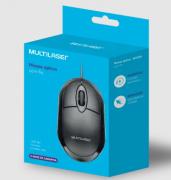 Mouse Usb Multilaser Preto Mo300