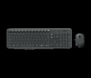 Teclado E Mouse Wireless Preto Logitech Mk235
