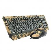 Teclado E Mouse Warrior Tc249 Kyler Gamer Army Camuflado