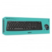 Teclado E Mouse Wireless Preto Logitech Mk270
