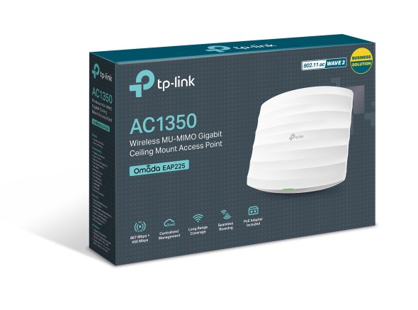 Access Point Wireless Tp-Link Poe Ac1350 Omada Eap225 450Mbps + 867Mbps