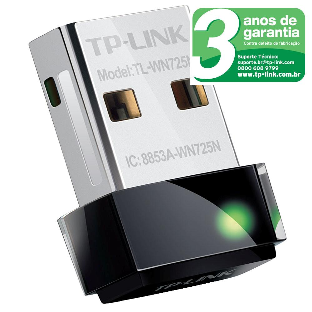 Adaptador Wireless Usb Tp-Link Tl-Wn725N 150 Mbps