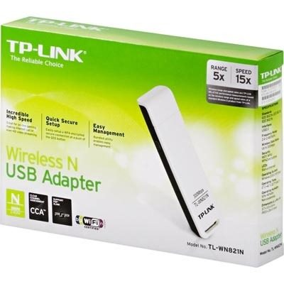Adaptador Wireless Usb Tp-Link Tl-Wn821N 300 Mbps