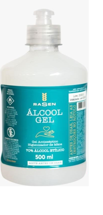 Alcool Gel 70% Rasen 500Ml
