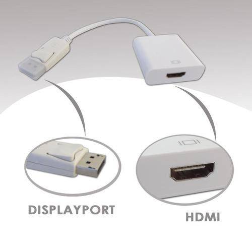 Adaptador Displayport Para Hdmi Branco Empire 15 Cm