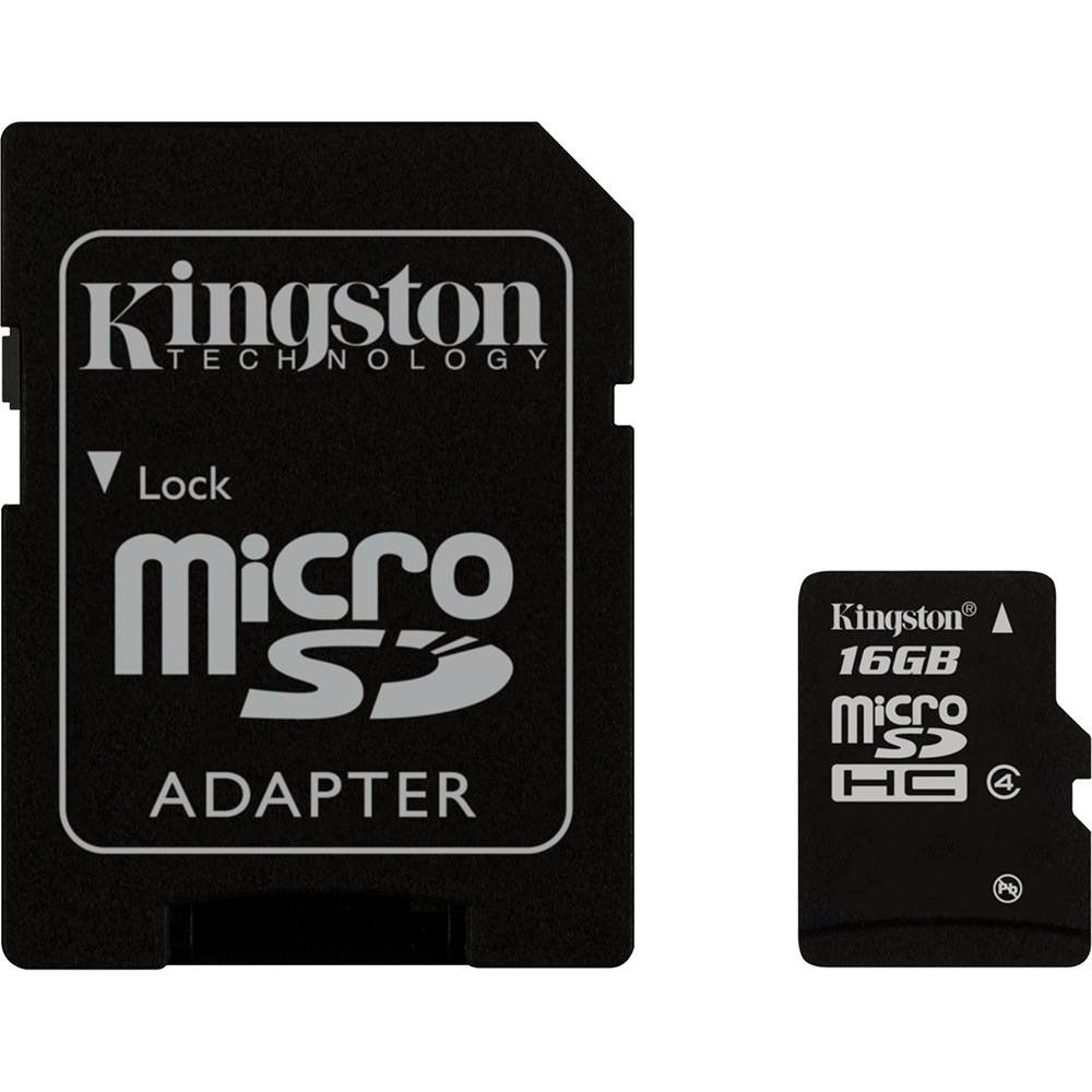 Cartao Memoria 16Gb Kingston Microsd Adapt Cl4