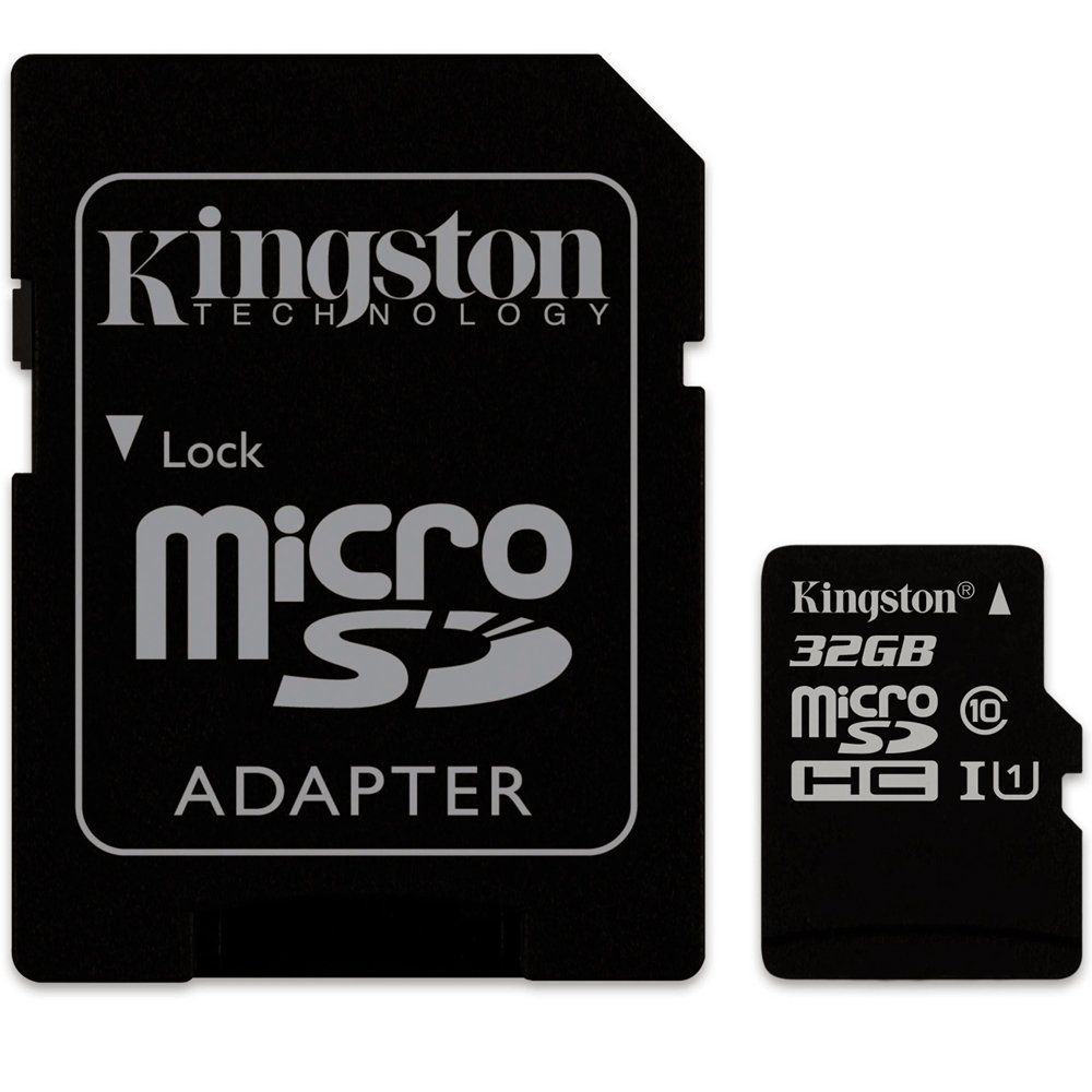 Cartao Memoria 32Gb Kingston Cl10 Microsdhc Adapt Sdc10G2/32
