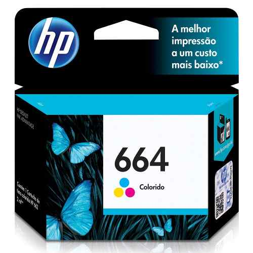 Cartucho Hp 664 Color F6V28Ab 2Ml