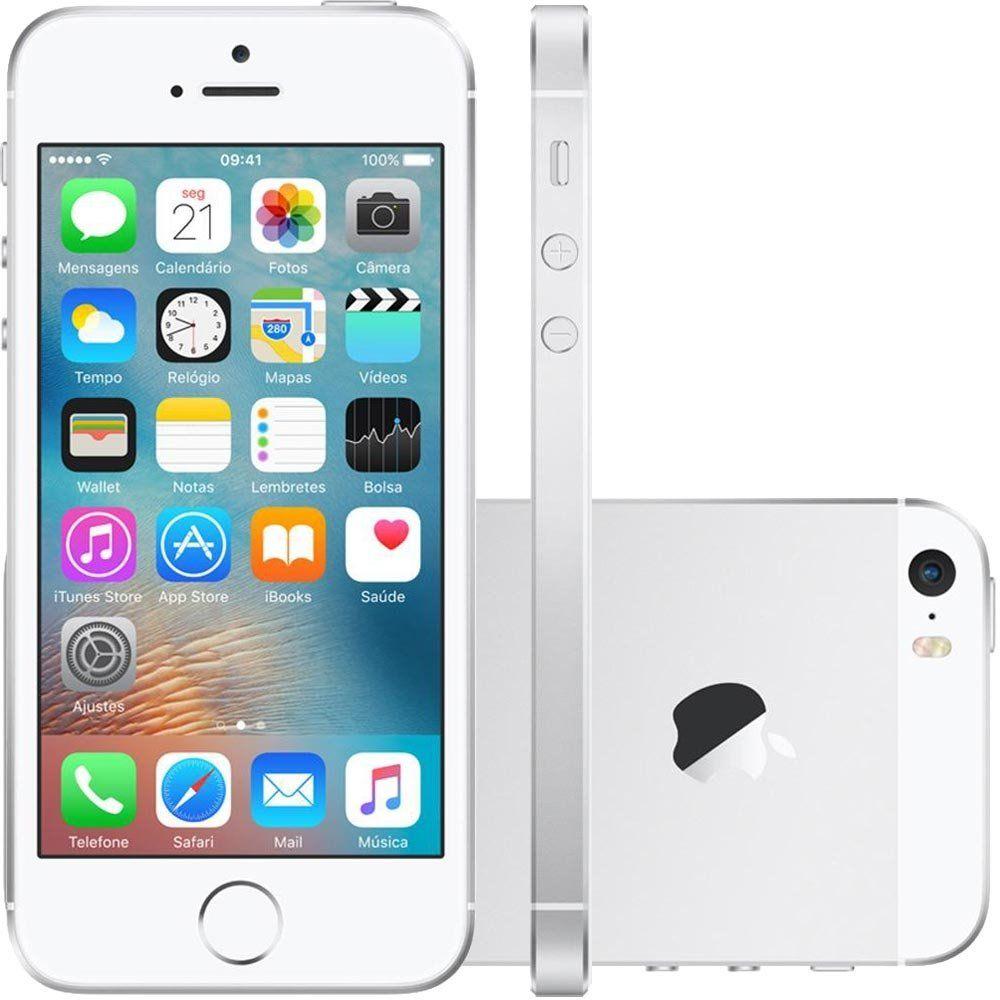 Celular Iphone Se 32Gb Silver Mp832Br/A