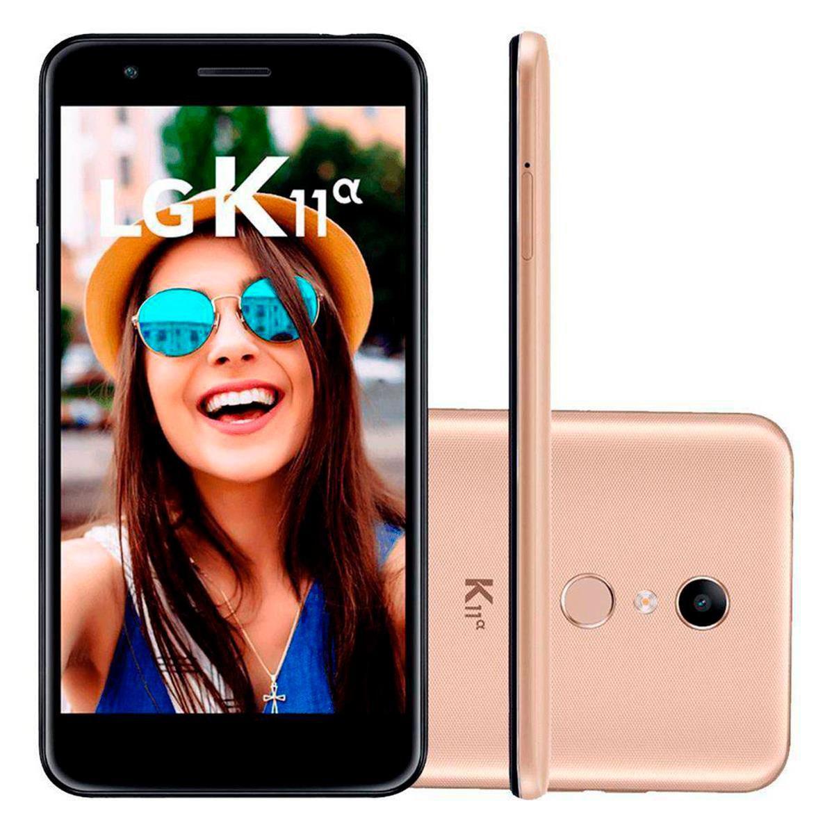 Celular Lg K11 Alpha Lm-X410Btw Oc| 16Gb| 2Gb Ram| 4G| 8Mp| 5,3 Hd| Dourado