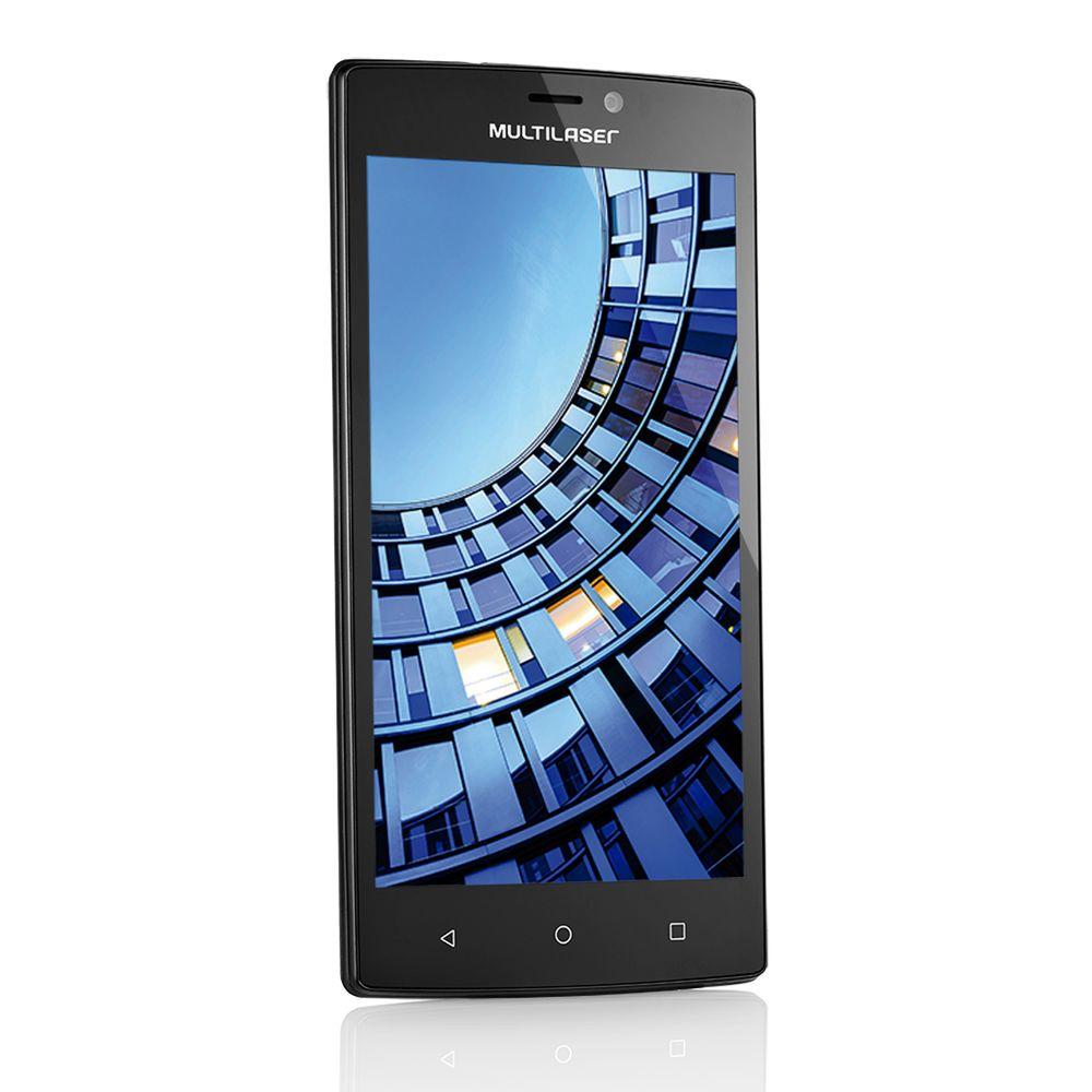 Celular Multilaser Ms60 5.5 Quadcore 16Gb + Sd16Gb 4G 2Gb Ram Preto Nb230 Desb.