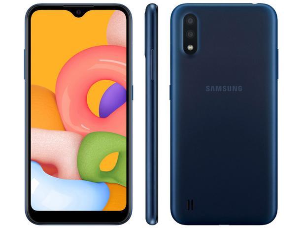 Celular Samsung Galaxy A01 Sm-A015M/Ds Oc2.0Hz/32Gb/2Gbram/13Mp/5,7/Azul