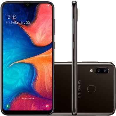 Celular Samsung Galaxy A20 Sm-A205G| Ds Oc| 32Gb| 3Gbram| 13Mp+5Mp| 6.4| Preto