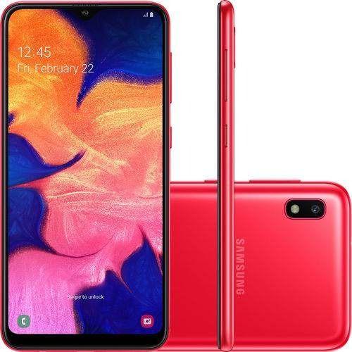 Celular Samsung Galaxy A20 Sm-A205G/Ds Oc/32Gb/3Gbram/13Mp+5Mp/6.4''/Vermelho