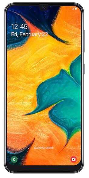 Celular Samsung Galaxy A30 Sm-A305Gt/Ds Oc/64Gb/4Gbram/16Mp/6.4''/Branco