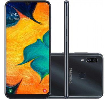 Celular Samsung Galaxy A30 Sm-A305Gt/Ds Oc/64Gb/4Gbram/16Mp/6.4''/Preto