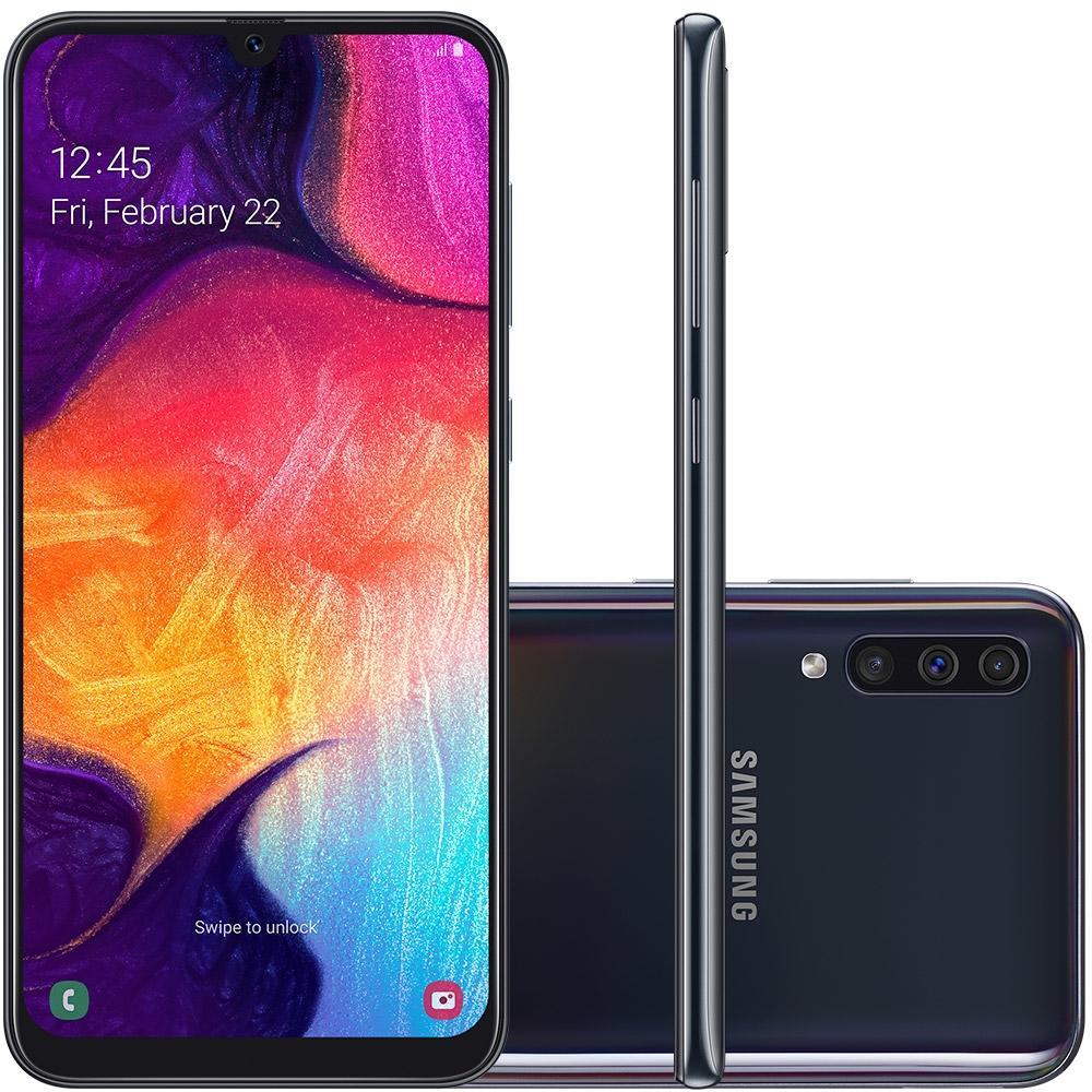 Celular Samsung Galaxy A50 Sm-A505Gt/Ds Oc/64Gb/4Gbram/25Mp/6.4''/Preto