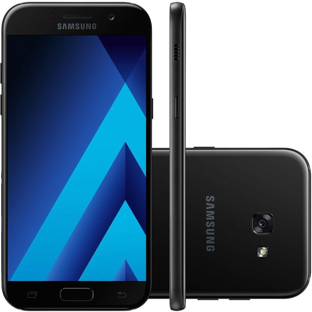 Celular Samsung Galaxy A5 2017 Oc64Bit/64Gb/4G/16Mp/Sm-A520F/Ds Preto
