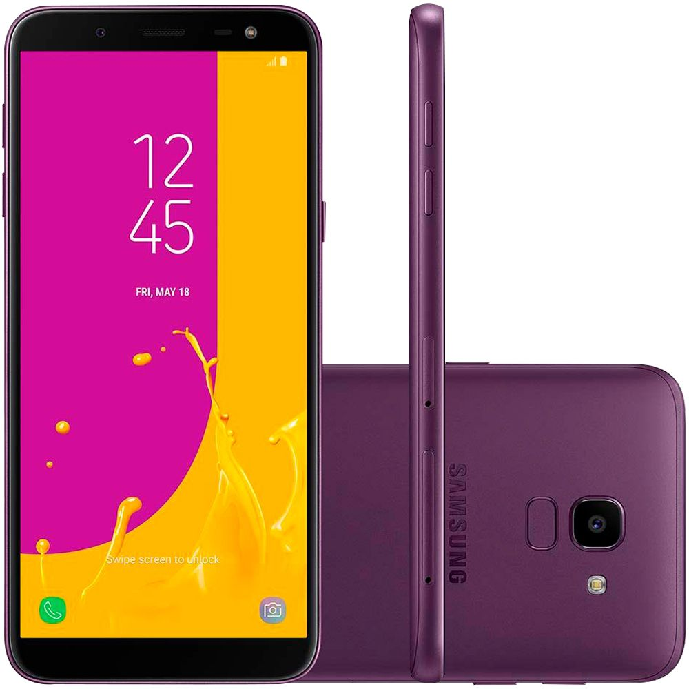 Celular Samsung Galaxy J6 Sm-J600Gt| Ds Oc1.6| 32Gb| 2Gbram| 4G| 5,6| Tv| 13Mp| Violeta