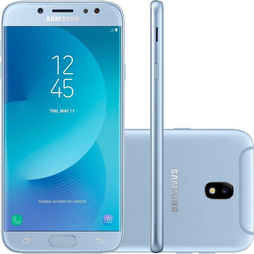 Celular Samsung Galaxy J7 Pro Sm-J730G/Ds Oc1.6Ghz/64Gb/4G/Tela5,5/13Mp/Azul