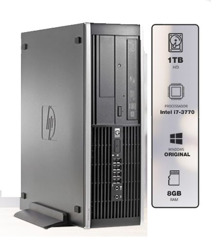 Cpu Hp 8300 Sff I7 3770 3.40Ghz/1Tb/8Gb/Dvdrw/Usb 2.0/Usb 3.0/Vga/Dp/W10Pro Outlet