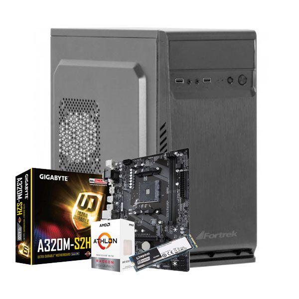 Cpu Lm Amd Athlon 200Ge| Ssd240Gb M.2| 4Gb| 200W| Preto