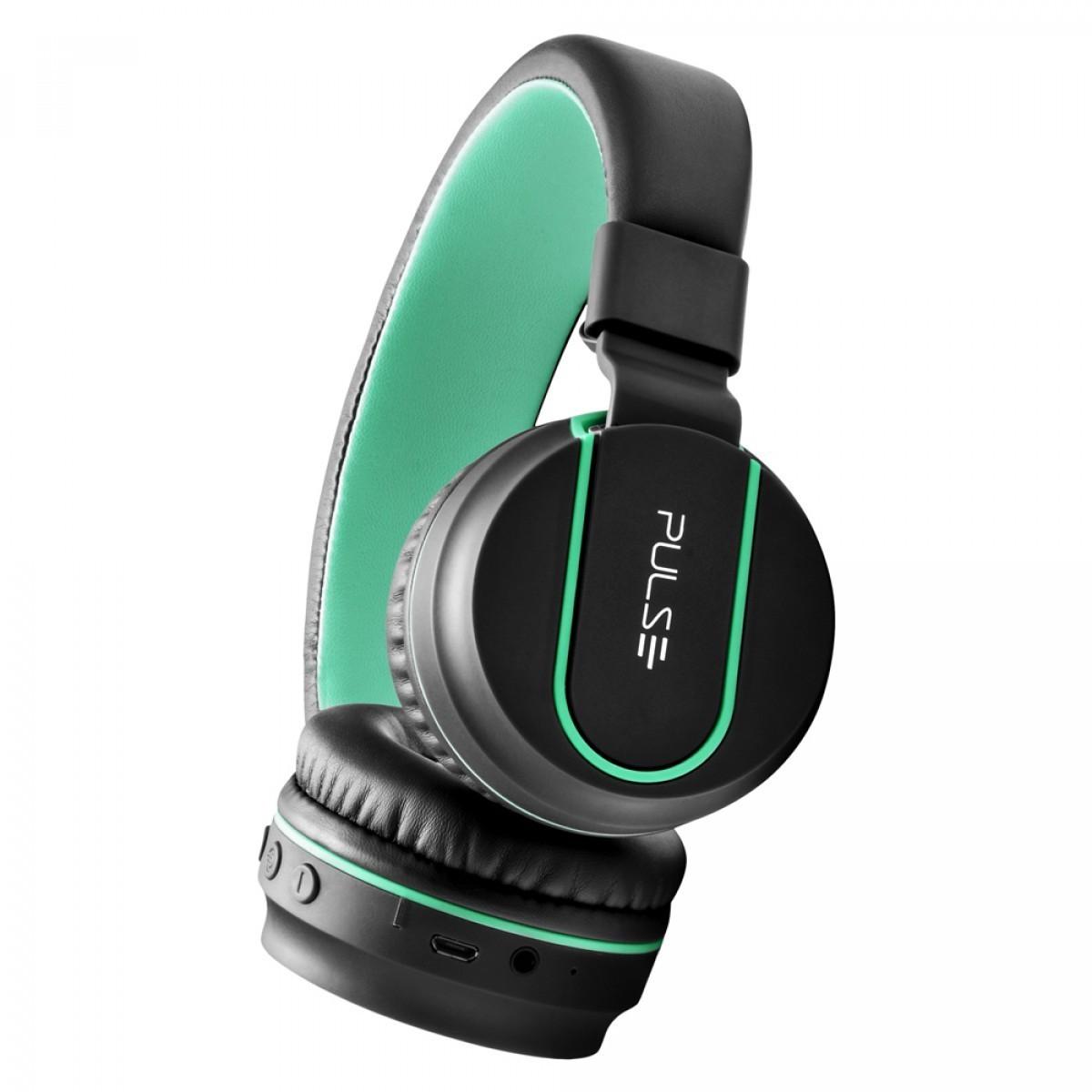 Fone De Ouvido Bluetooth Pulse Ph215 Preto  Verde