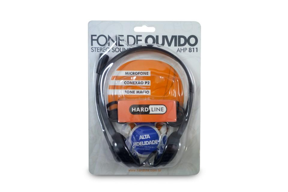 Fone De Ouvido Com Microfone Ahp811 Preto Hardline