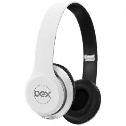 Fone De Ouvido + Headset Oex Hf100 Combo Twin Branco