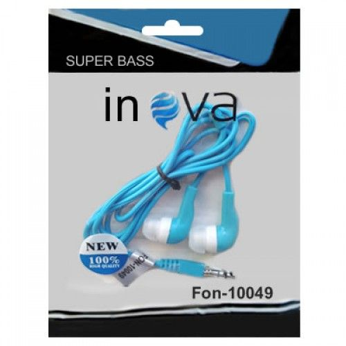 Fone De Ouvido Intra-Auricular Para Celular Inova Azul