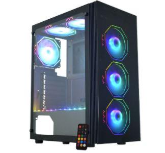 Gabinete Gaming Asgard Polygon Preto Led Rgb Cg-02Z5 K-Mex