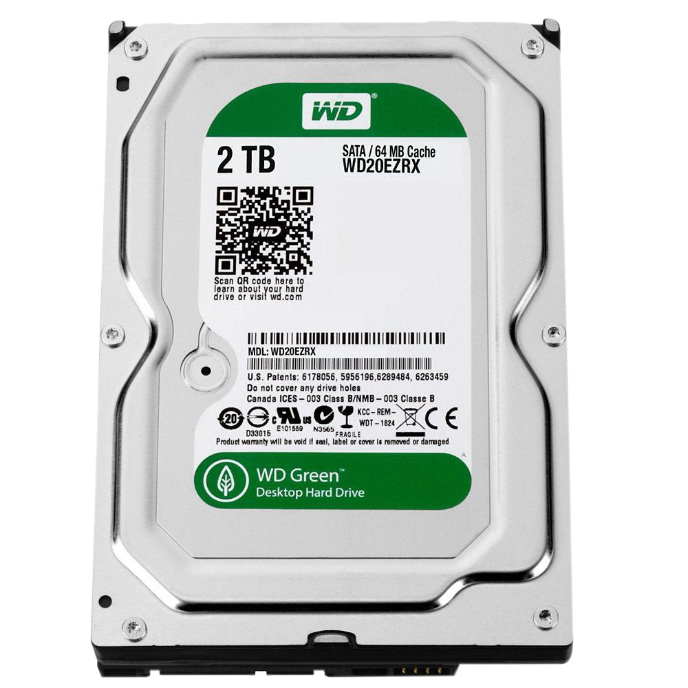 HD 2TB SATA WESTERN DIGITAL 64MB GREEN