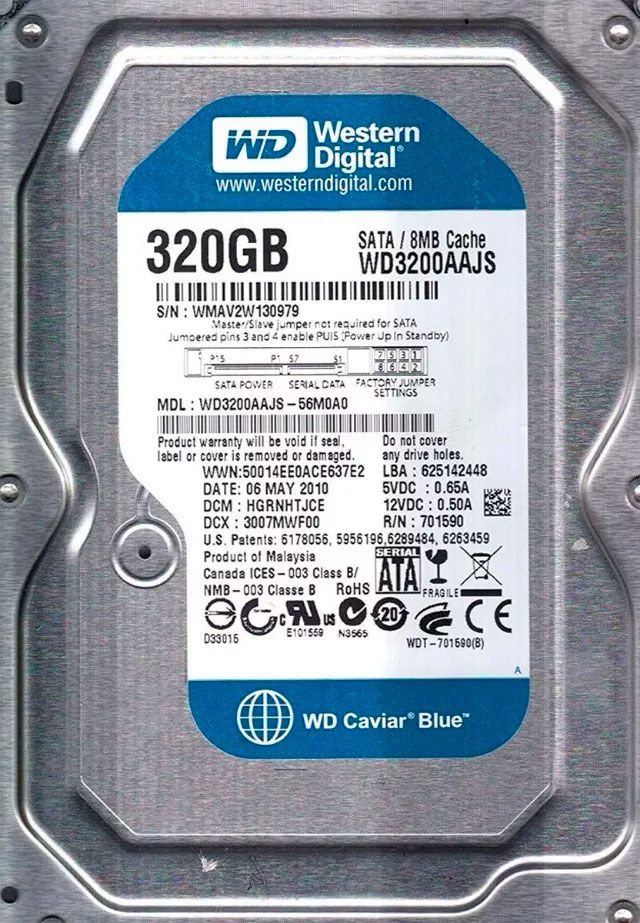 Hd 320Gb Sata Western Digital 7200Rpm