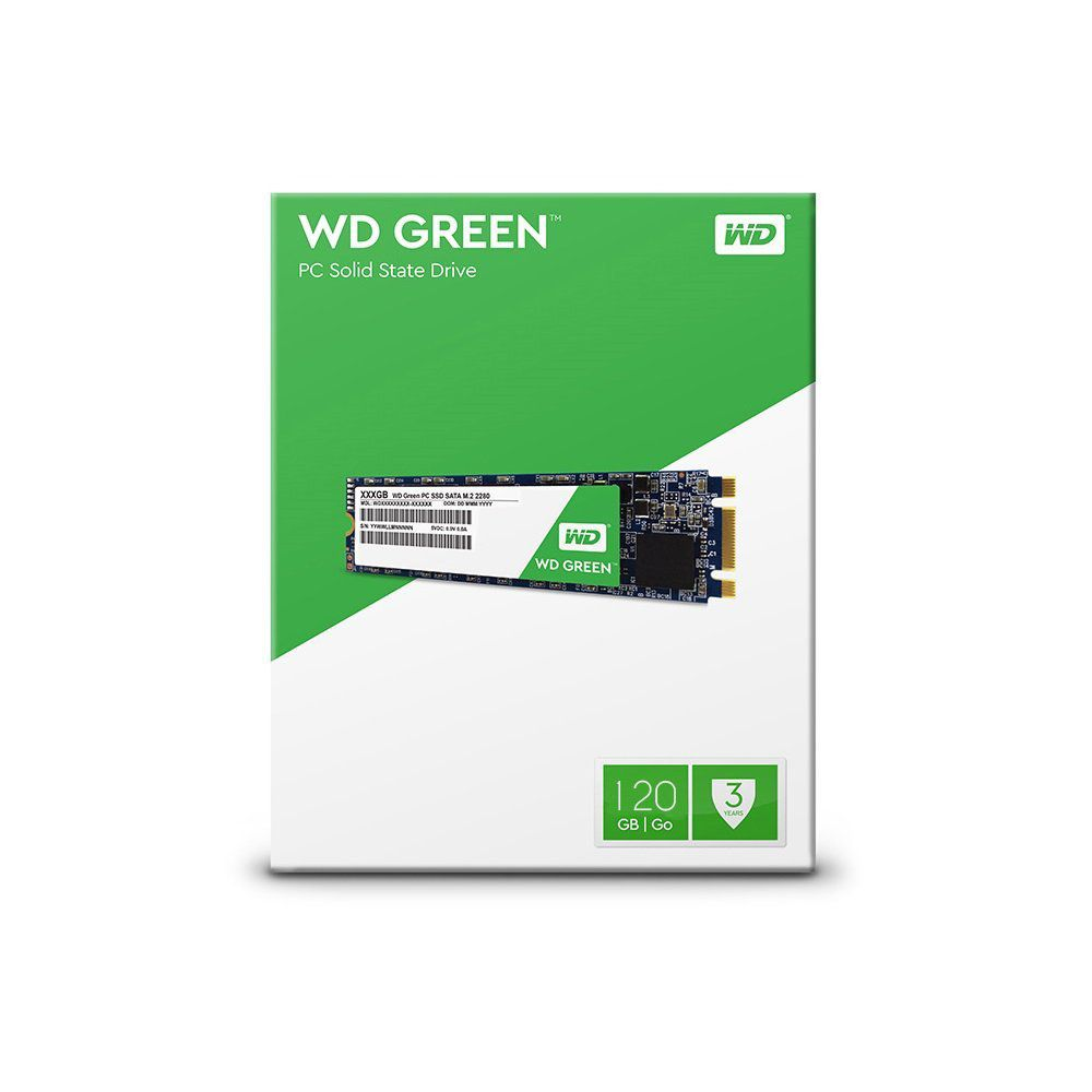 Hd Ssd M.2 2280 120Gb Wd Green - Wds120G2G0B