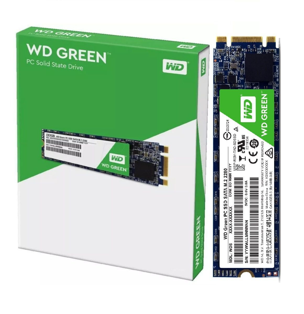 Hd Ssd M.2 2280 240Gb Wd Green Wds240G2G0B